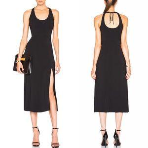 A.L.C. | Leesa Scuba Tie Back Midi Dress Black M